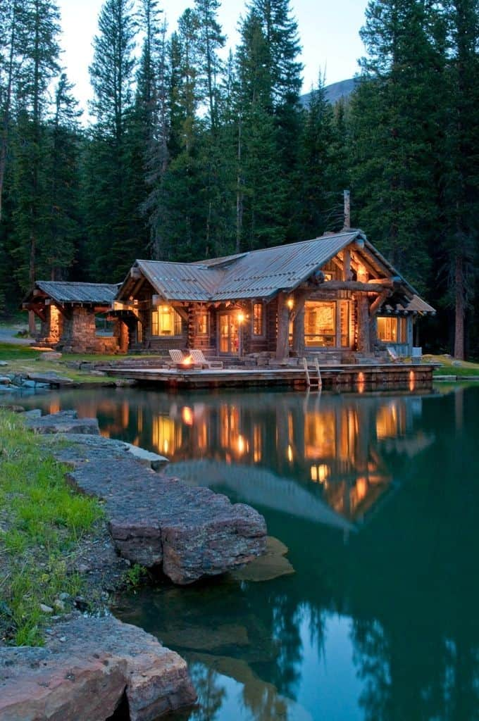 Surreal Log and Wood Cabins Exposed To The Wilderness-homesthetics (12)