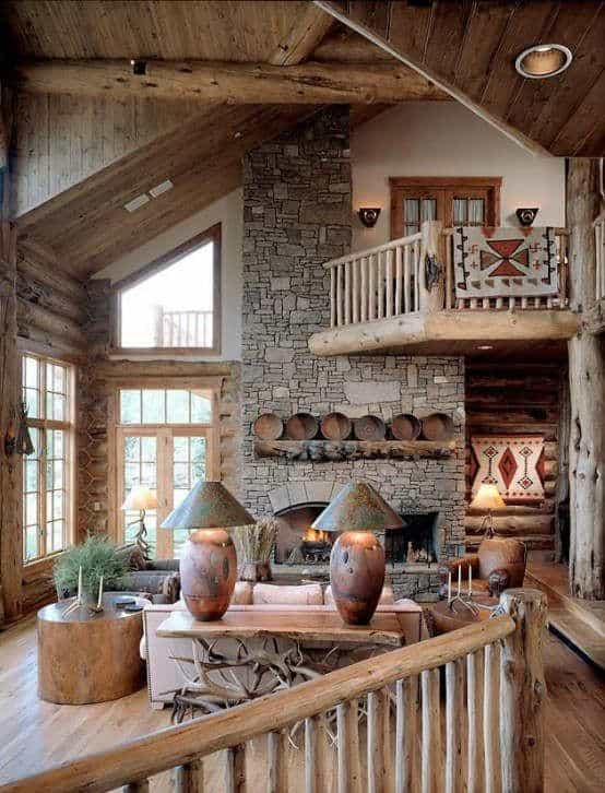 Surreal Log and Wood Cabins Exposed To The Wilderness-homesthetics (15)