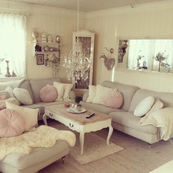 Chic Colorful Living Room: Top 18 Dreamy Shabby Chic Living Room Designs
