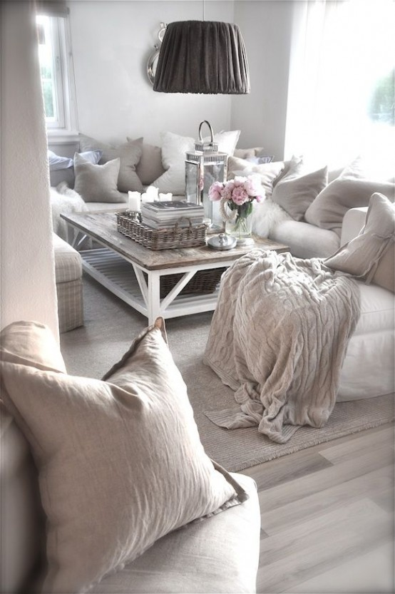 Top 18 dreamy shabby chic living room designs for Modern shabby chic living room ideas