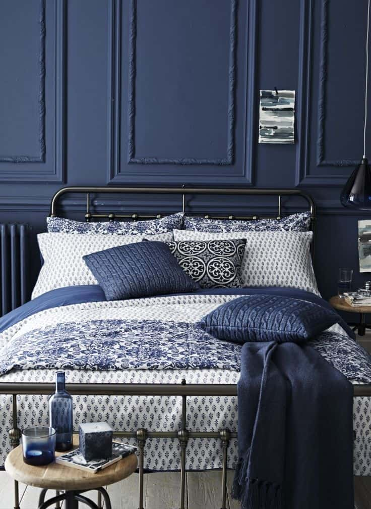 navy bedroom ideas-© Homesthetics - Inspiring ideas for your home (1)