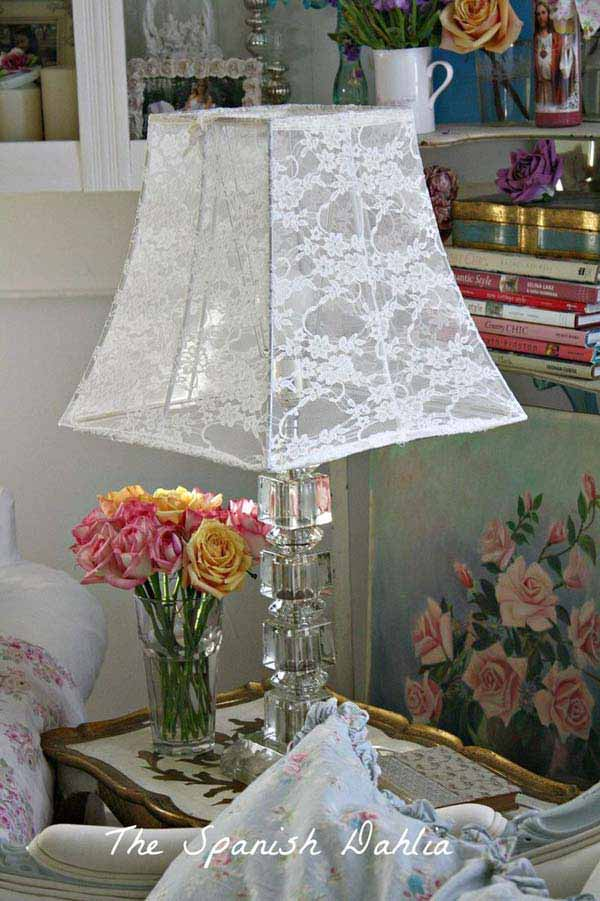 v22 Charming and Beautiful Lace DIY Projects to Realize at Home homesthetics decor (13)