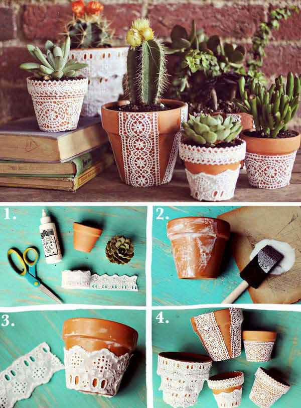 v22 Charming and Beautiful Lace DIY Projects to Realize at Home homesthetics decor (3)