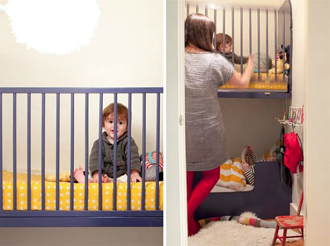 12 Ingenious Space Saving Tips and Tricks For Small Nursery homesthetics design (3)