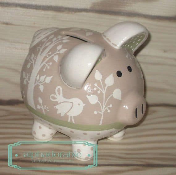 #15 DO IT YOURSELF POTTERY PAINTED PIGGY BANK