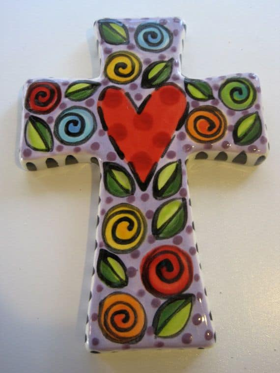 #4 ADD SOME COLOR TO YOUR CRUCIFIX TO BRIGHTEN IT WITH POTTERY PAINTING