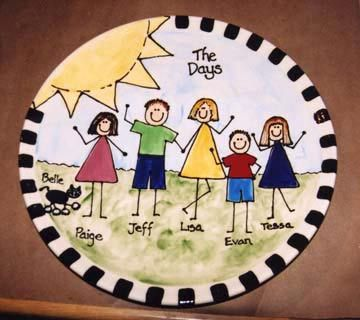#6 FAMILY PHOTO IDEA CREATED WITH POTTERY PAINTING