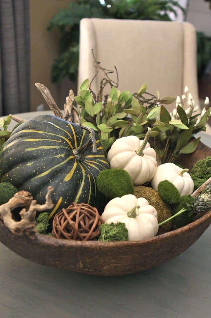 21 Charming White Pumpkin Fall Decorations For Your Household homesthetics decor (4)