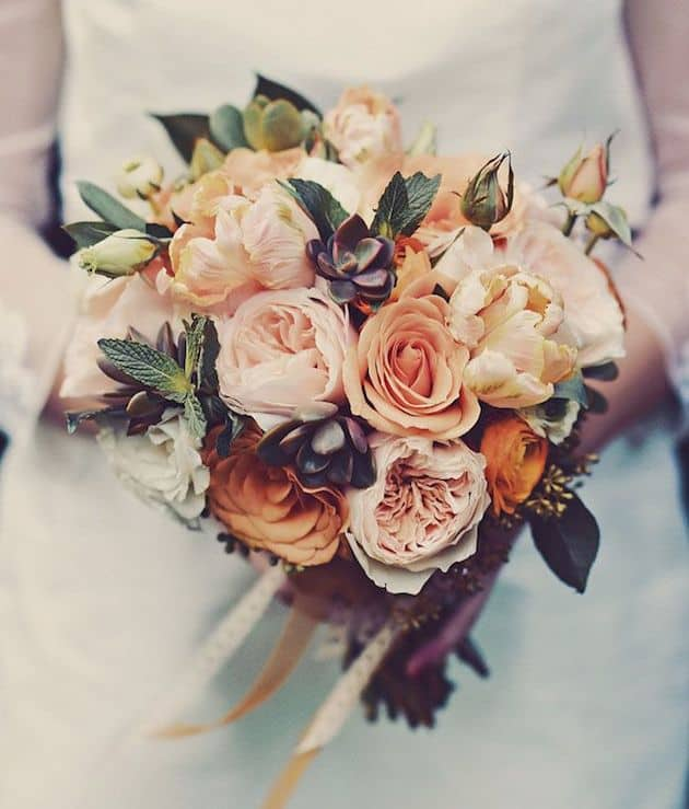 #11 vintage hues bridal bouquet