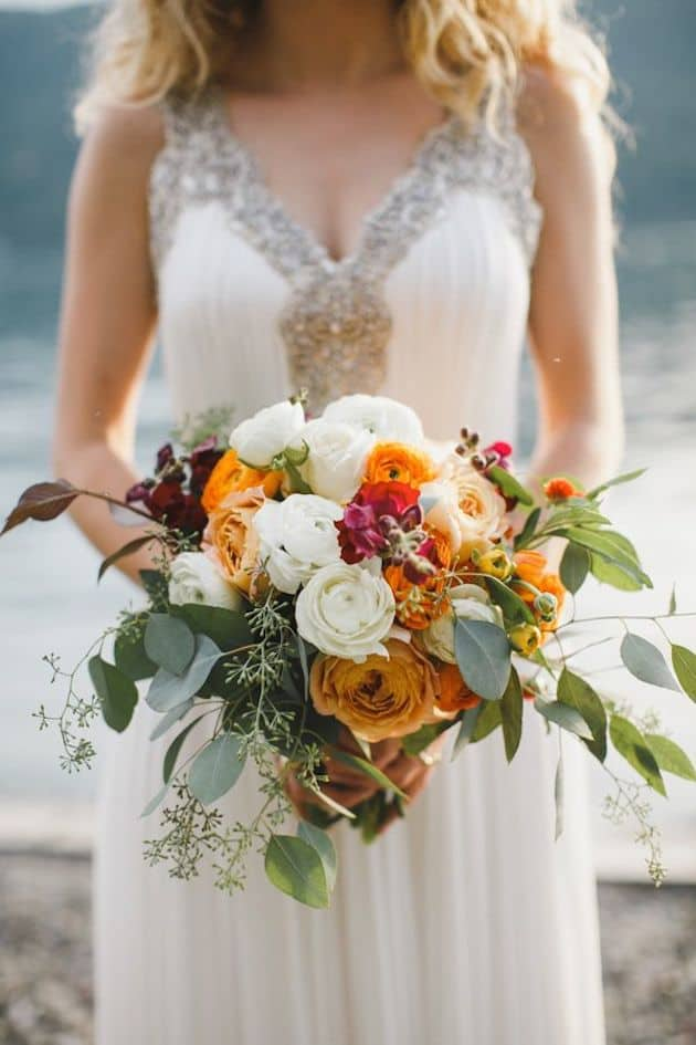 #12 pumpkin tones bridal bouquet