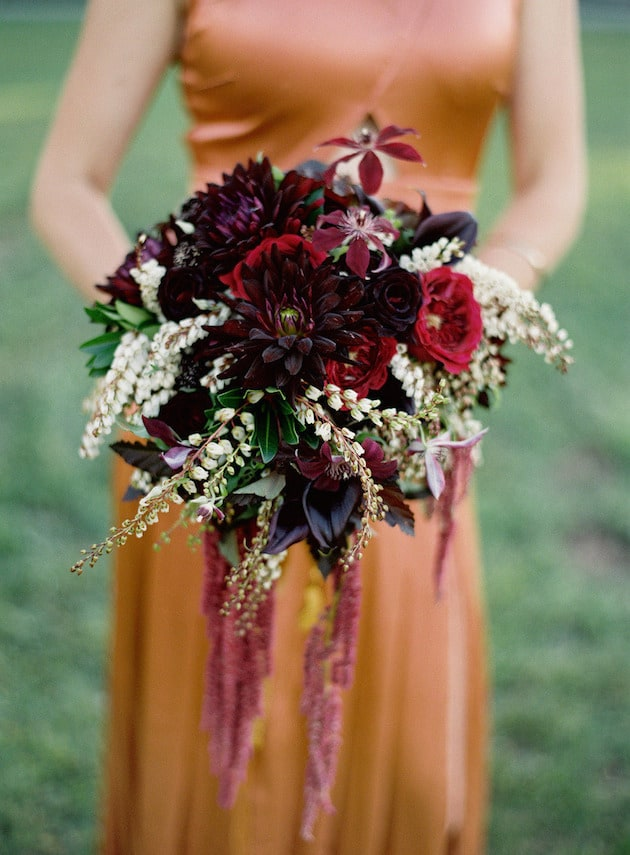 #13 rich tones bridal bouquet