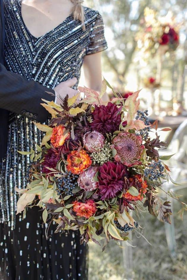 #18 crushed velvet bridal bouquet