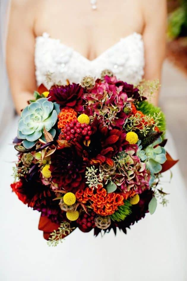 #20 all the autumn colors bridal bouquet
