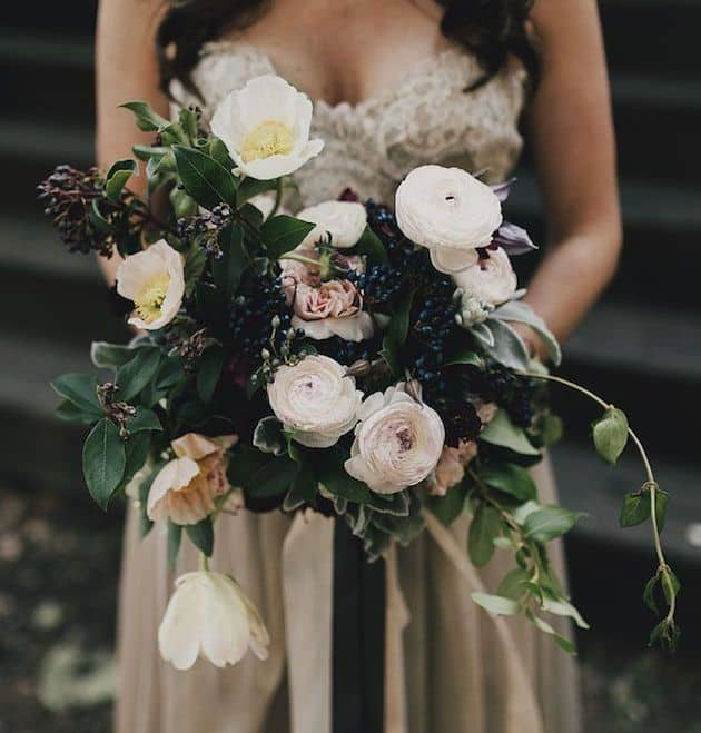 #22 autumnal anemones bridal bouquet