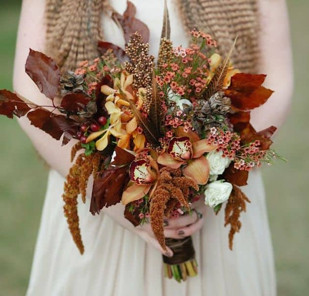 #5 rusted hues bridal bouquet