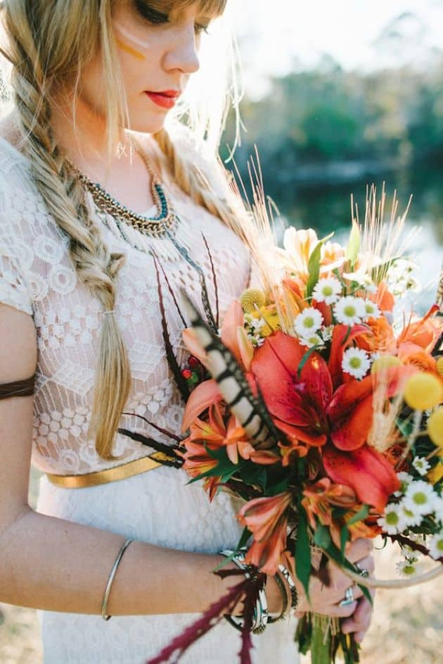 #6 fall harvest bridal bouquet