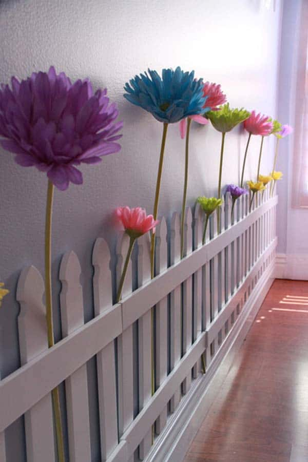#1 USE OLD WOODEN PALLET BOARDS TO MAKE A BEAUTIFUL FAIRY TALE FENCE