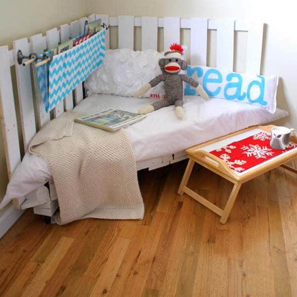 #15 CREATE A SMALL CORNER BED FOR DAY TIME NAPS