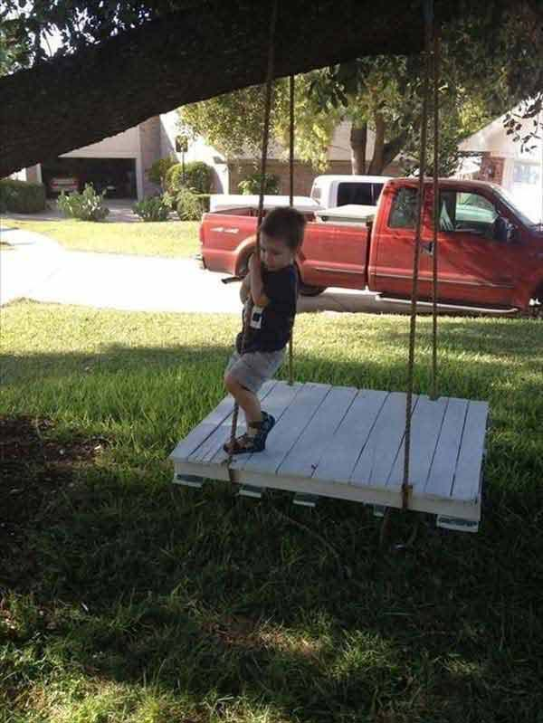 #16 A LOW HEIGHT OUTDOOR SWING BED CAN BE A GREAT SOURCE OF FUN
