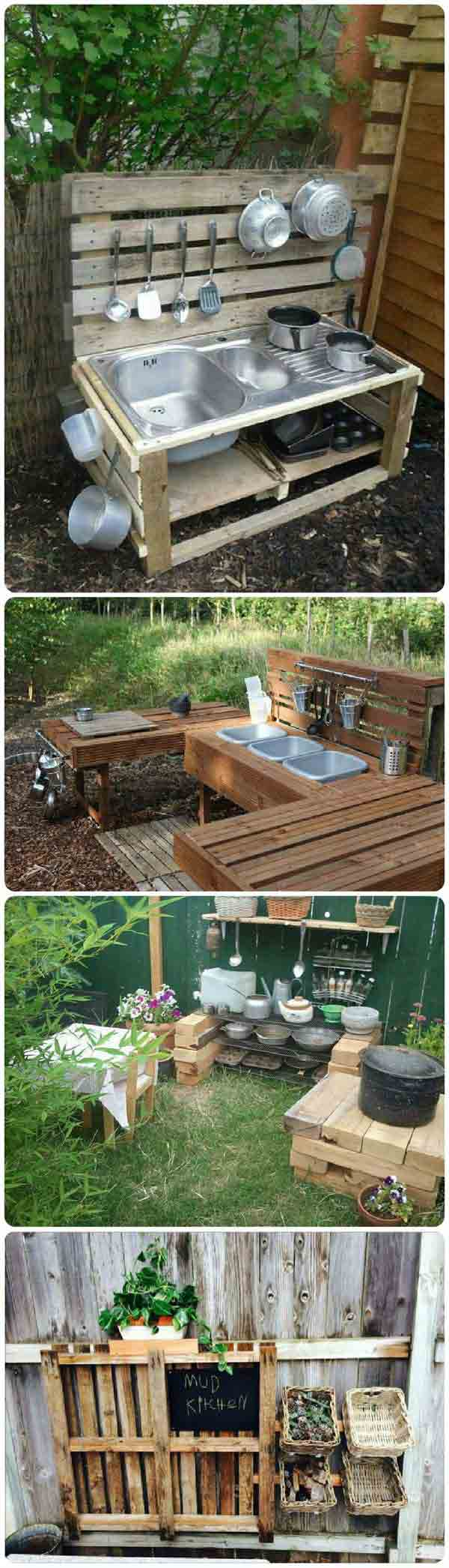 #17 CREATE AN OUTDOOR KITCHEN AND EDUCATE YOUR KIDS THROUGH PLAY