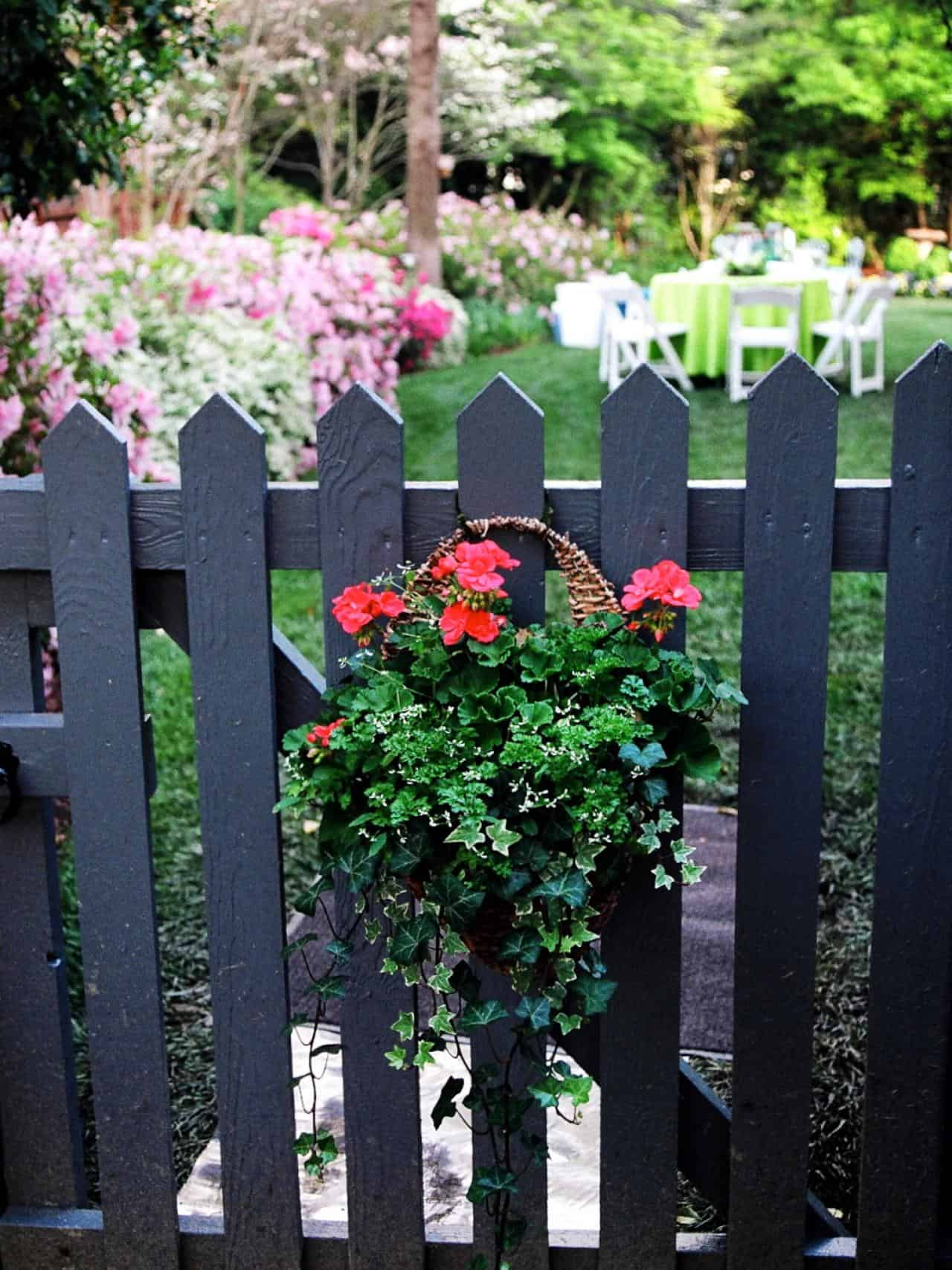 3 Sure You Can Hang Flower Baskets On Your Front Or Back Gate To Liven It Up