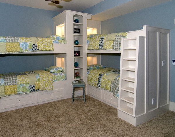 Double Deck Bed Design For Small Rooms