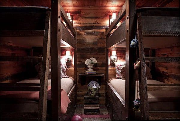 #26 DOUBLE DECKER BEDROOM WITH A RUSTIC LOOK AS IF TAKEN OUT FROM A CABIN IN THE WOODS
