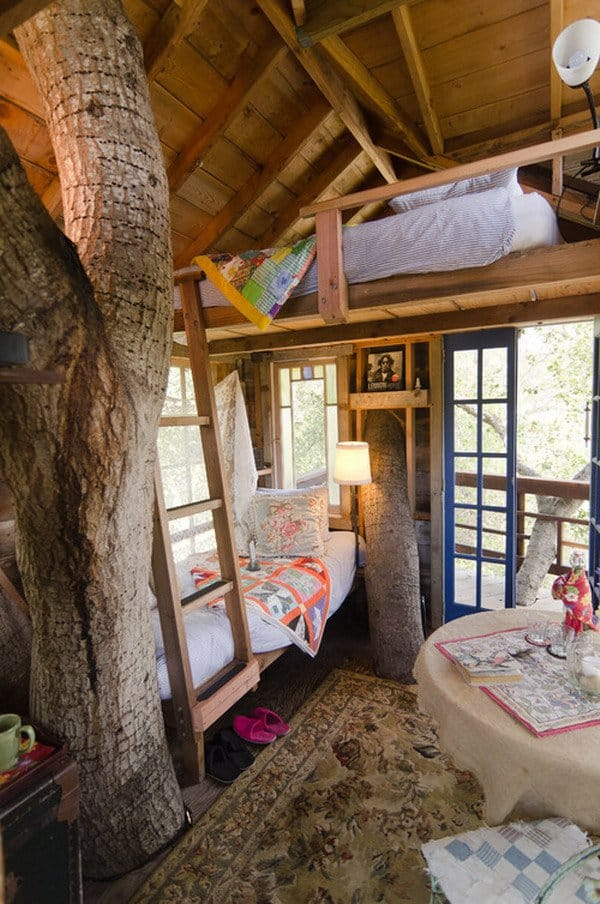 #35 TREE HOUSE DOUBLE DECKER BED YOUR KIDS WILL ENJOY WITH A FRIEND
