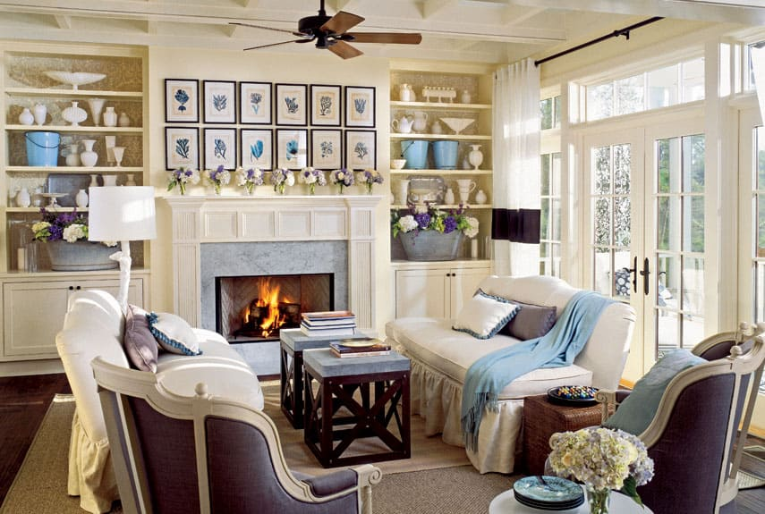 38 living room ideas for your home decor for Colonial living room decorating ideas