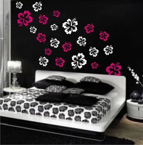 # 24 WALL ART IDEA USING WALLPAPER FLOWERS
