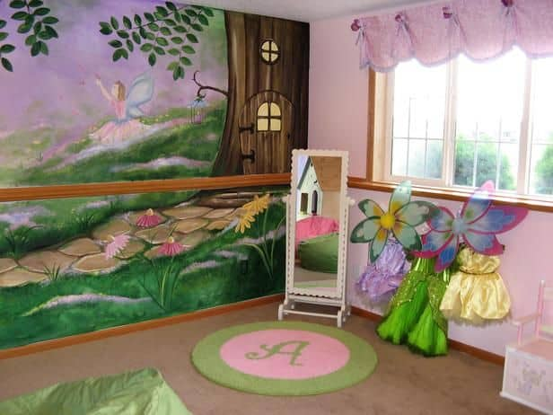 #26 MAKE YOUR KID'S ROOM COME TO LIFE WITH THIS FAIRY TALE FOREST WALL ART WORK