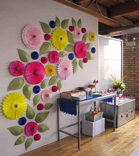 32 LARGE 3D WALL ART FLOWERS PERFECT IN THIS DIY IDEA