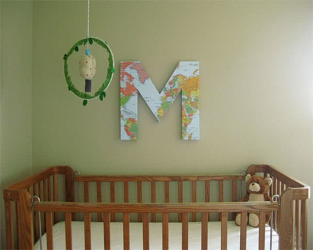 #18 MAKE CARDBOARD LETTERS AND NUMBERS FOR A BLANK WALL OVER YOUR BABY'S NURSERY