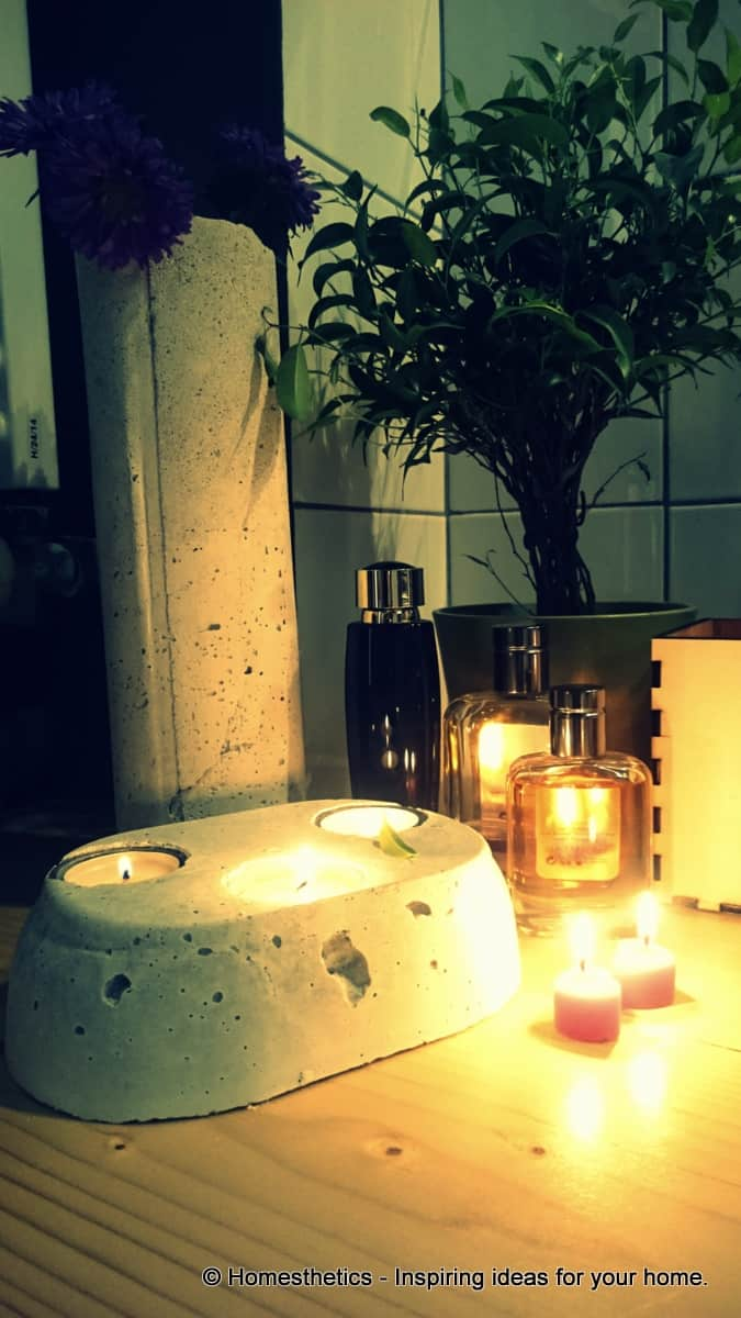 DIY Project Series DIY Concrete Candle Holder-homesthetics (8)