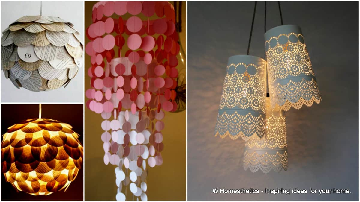 Inspirational  Interesting Do It Yourself Chandelier and Lampshade Ideas For Your Home