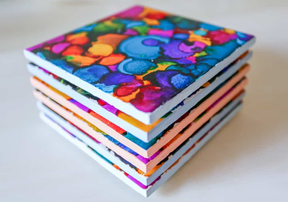 Fun And Simple Ways To Make DIY Coasters That You Can Actually Use (4)