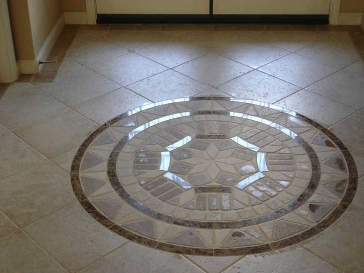 15 inspiring floor tile ideas for your living room home decor for Cool floor tile designs