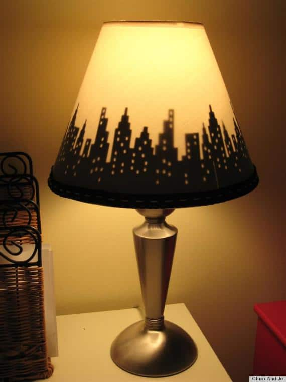 #14 diy lampshade chandelier idea