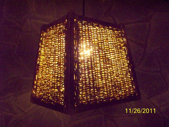 #8  hanging lampshade diy idea for your home using a basket