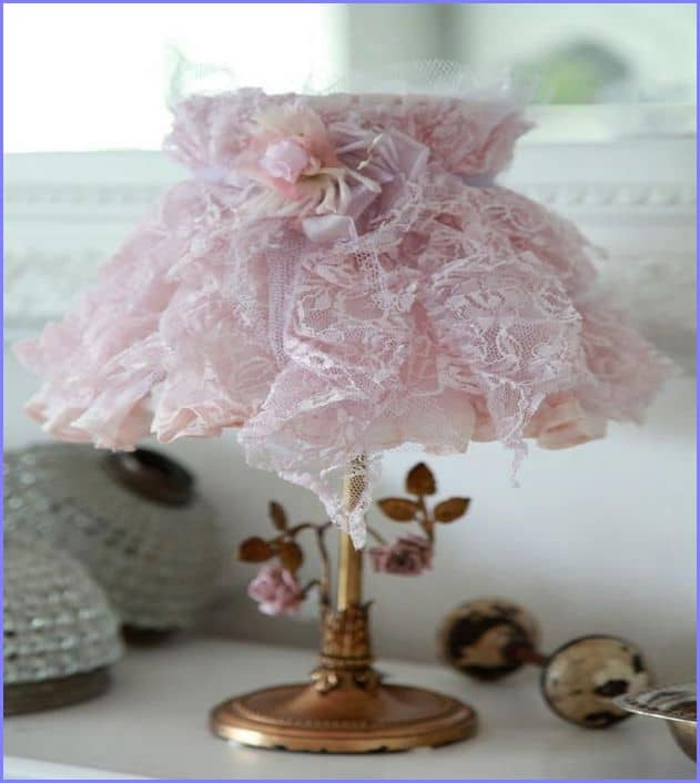 #3 diy lampshade idea for your home using lace cloth material
