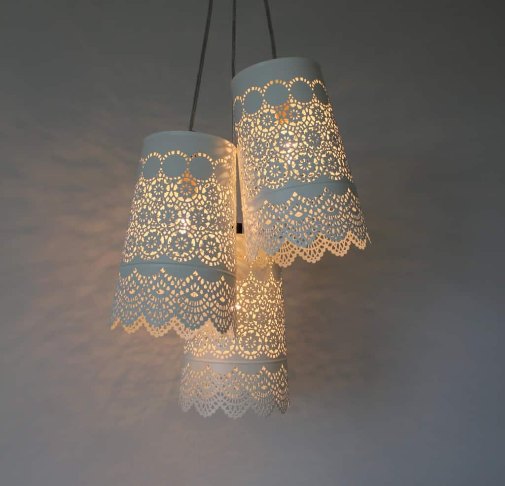 20 interesting do it yourself chandelier and lampshade ideas for 19 paper lantern chandelier arubaitofo Gallery