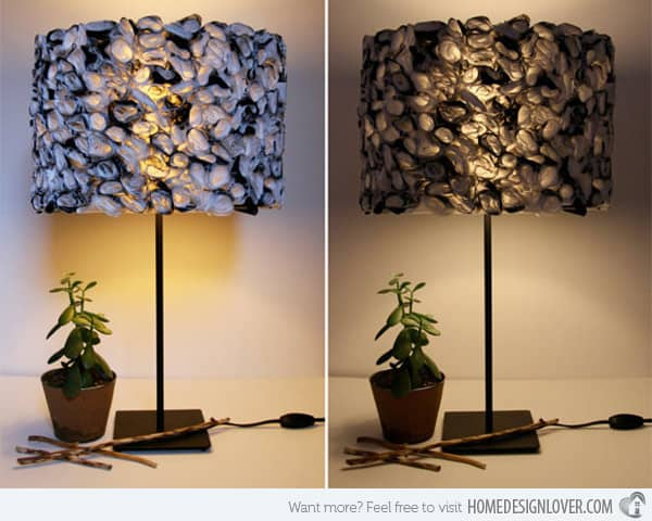 #18 diy lampshade idea for your home using everyday objects