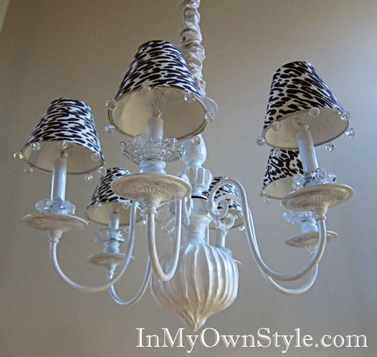 #17 chandelier lampshade diy idea