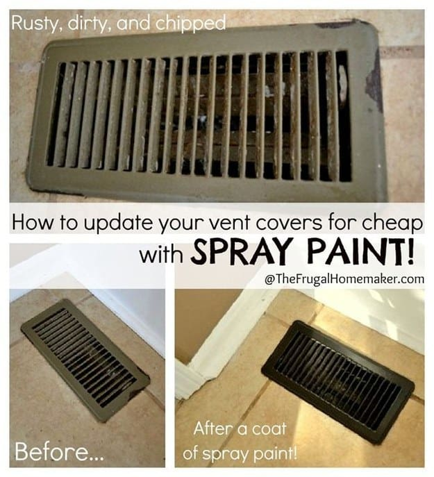 Ways You Can Spray Paint Old Objects In And Around Your Home To Make It Look Brand New