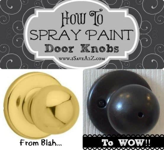 Ways You Can Spray Paint Old Objects In And Around Your Home To Make It Look Brand New (6)