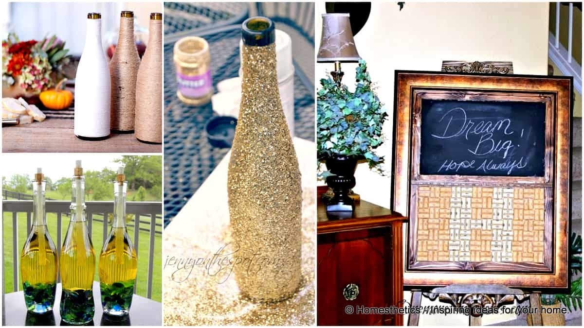 1 21 Smart DIY Wine Bottle Crafts That Will Beautify Your Household