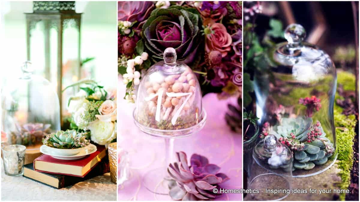 31 Simply Breathtaking Cloche and Bell Jar Decorating Ideas For Magical Weddings