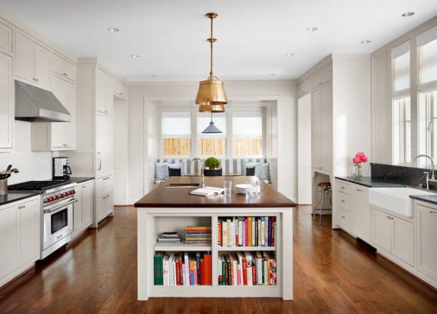 18 Neat Ergonomic Kitchen Islands Designs Featuring Open Shelving  homesthetics ktichen designs (14)