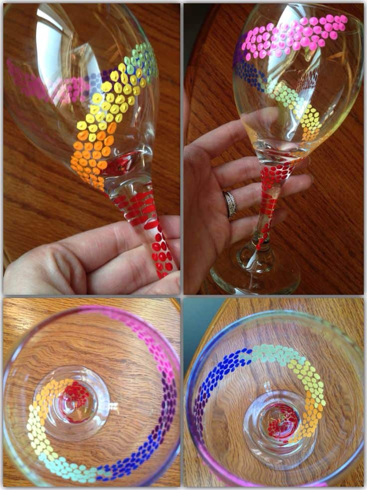 19 painted wine glass idea to try this season 3 - Wine Glass Design Ideas