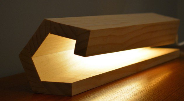 #1 construct a simple 5 pieces modern lamp
